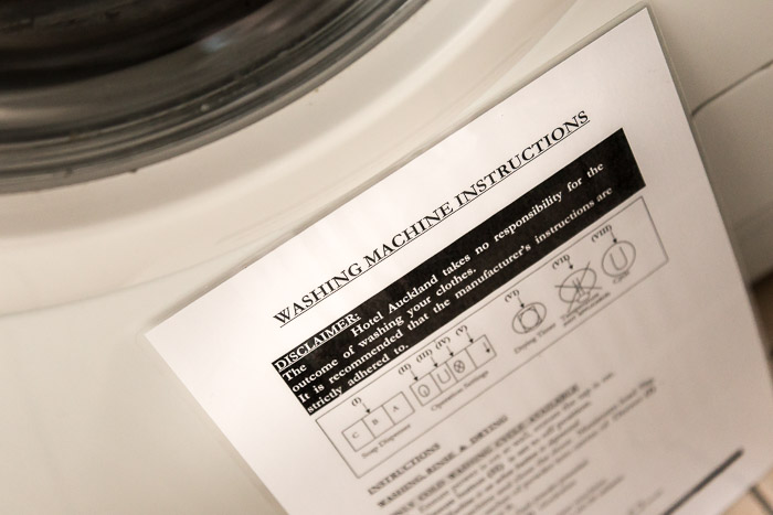 Picture of washing machine instructions