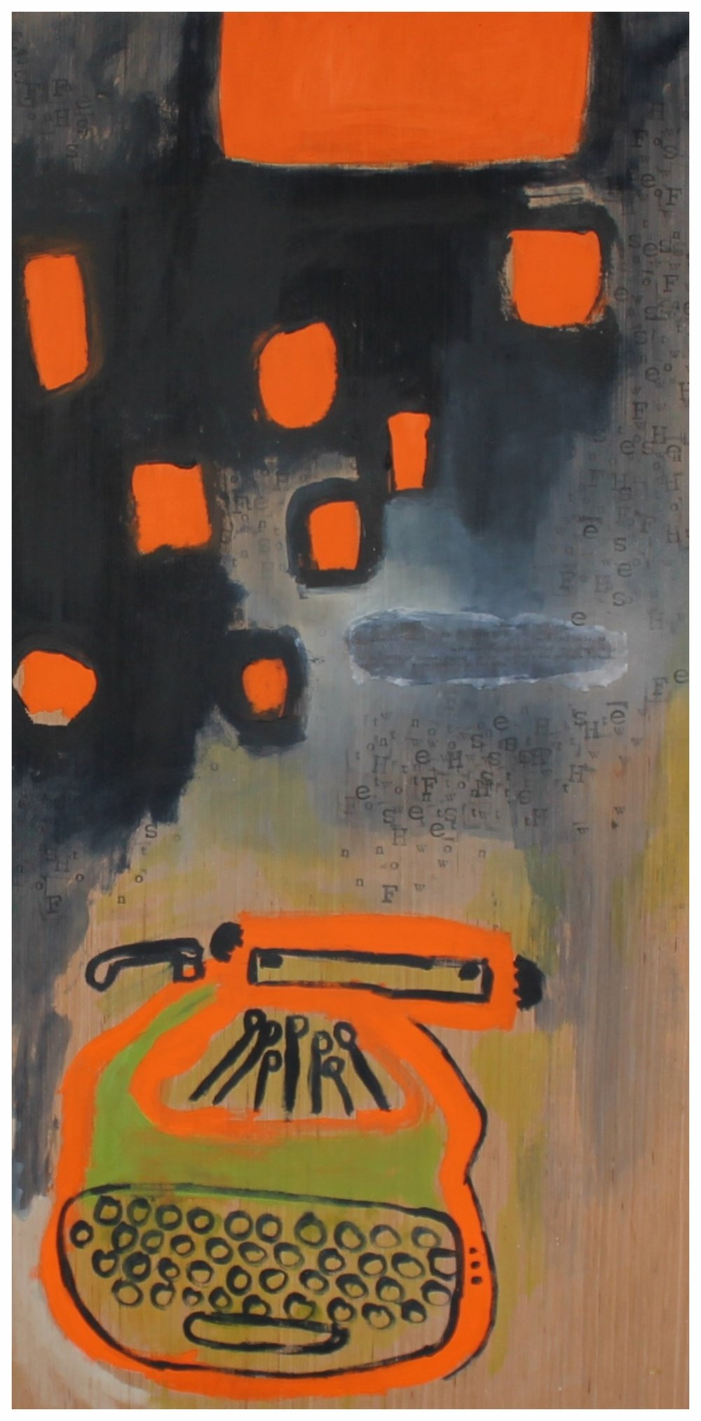 Explosions typografiques orange