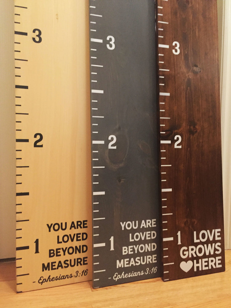 Custom Wooden Growth Chart Ruler Customizable Gifts And Home Decor