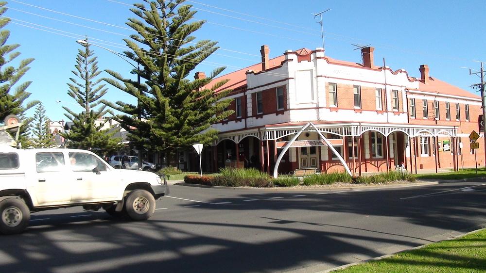 The beautiful main street of Wonthaggi