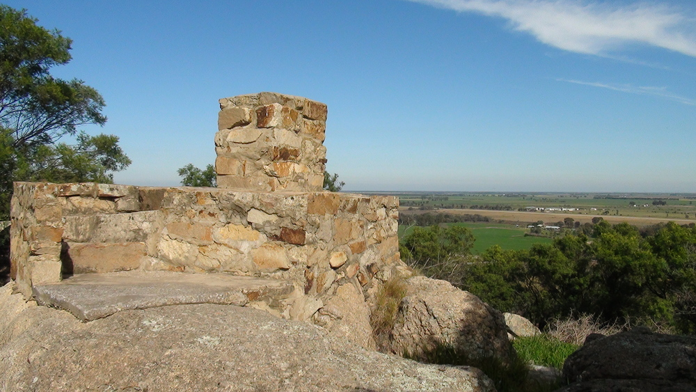 There's excellent views from the summit, or along the walking track.
