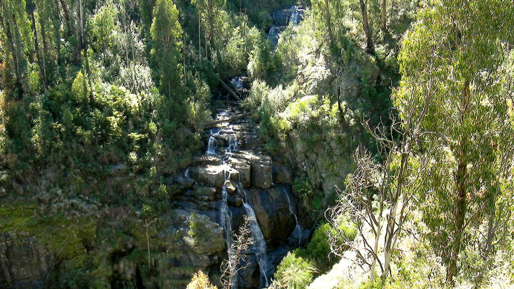 Masons falls are a lot larger then any camera can capture…