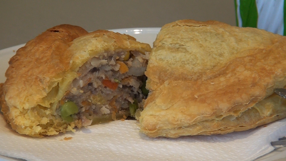 Grays pasties and one of their most popular products - and after tasting it, we can see why!