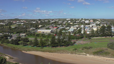 View of Port Campbell from the Discovery Walk