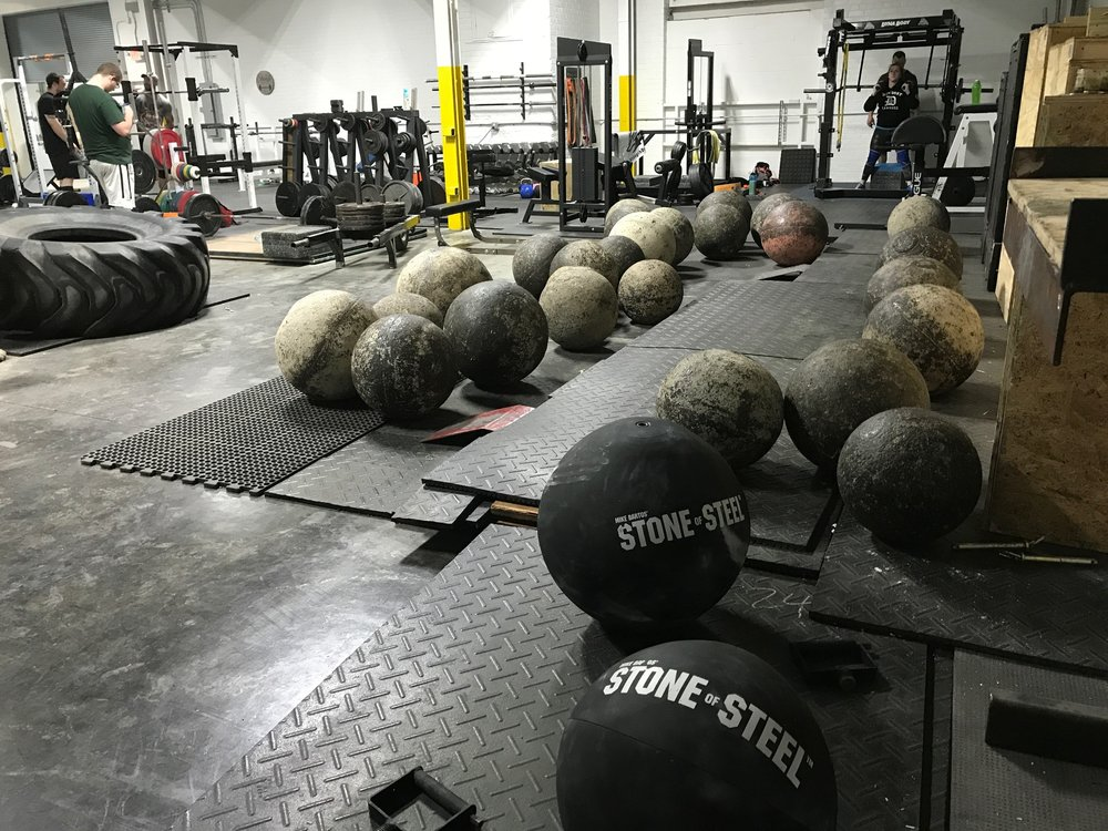 Atlas stones from 85 to 415 lbs