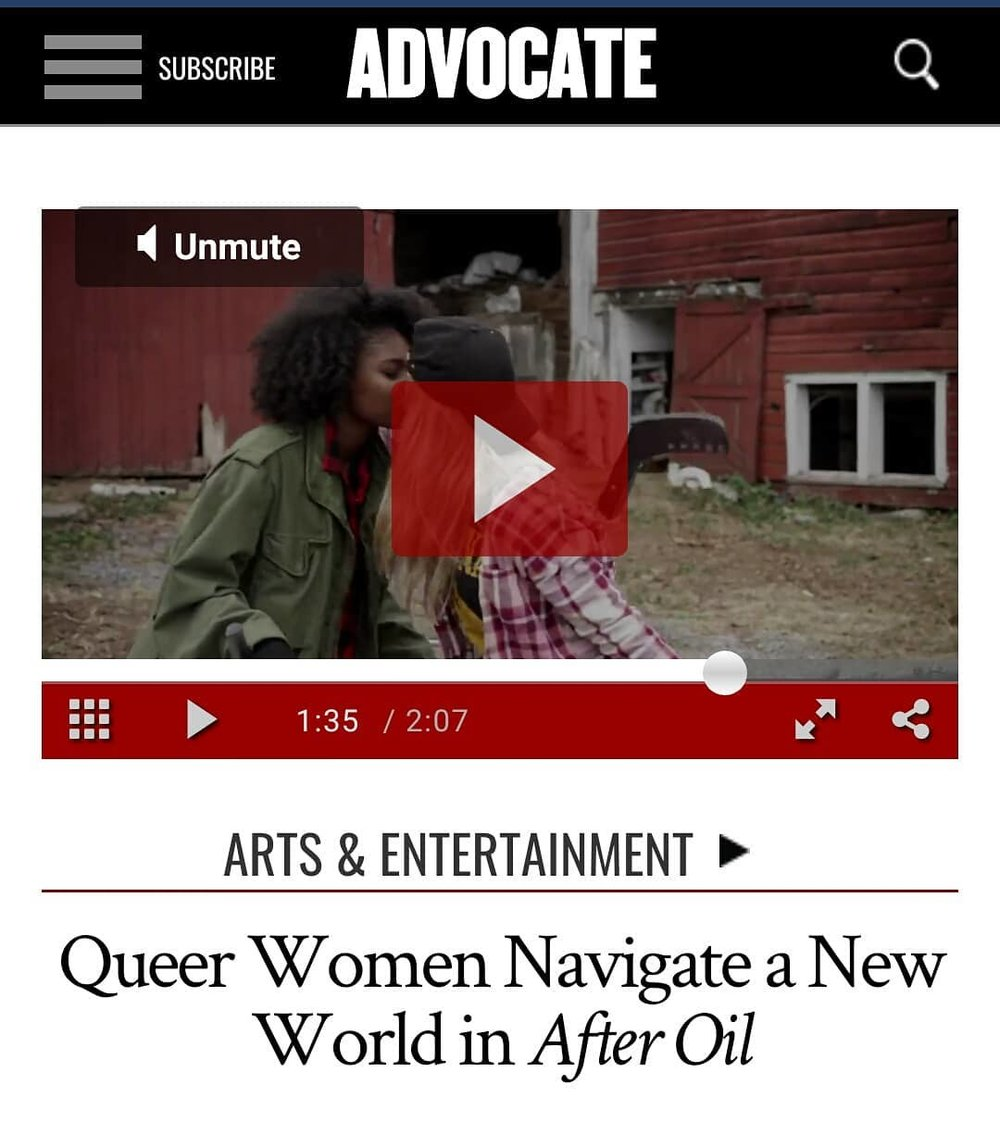 Our pilot was featured on THE ADVOCATE - THE ADVOCATE is the leading source for LGBTQ+ news.