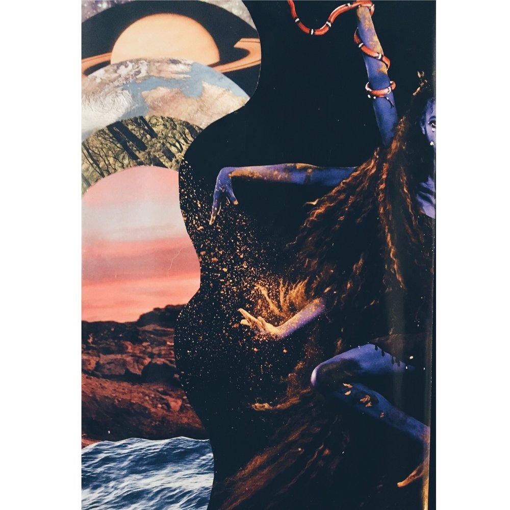 Art: Paper collage by Venessa Rodriguez