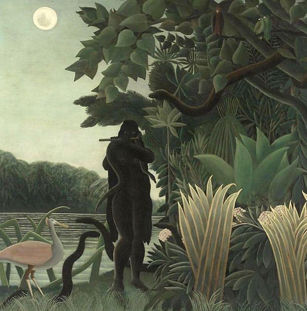 La Charmeuse de Serpents, Henri Rousseau 1907