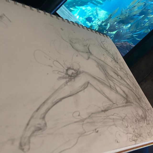 So I'm @montereybayaquarium right now and the #inspirefactor is off the charts. About to watch the #openseafeeding 😱 I can't wait!  #inspire #inspiration #intheflow #creativeflow #montereybayaquarium #oilpainting #art #beautifulbizarre