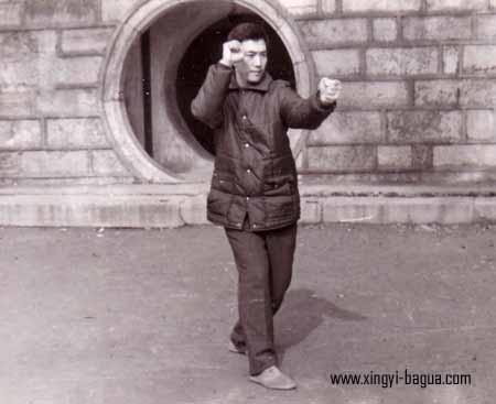 刘敬儒师父示範炮拳  Master Liu Jing Ru performing Pao Quan (Cannon Fist).