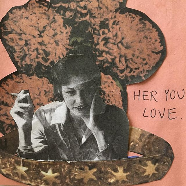 """Mini poetry/collage book, """"She Didn't Shape Him, She Bent Him"""""""