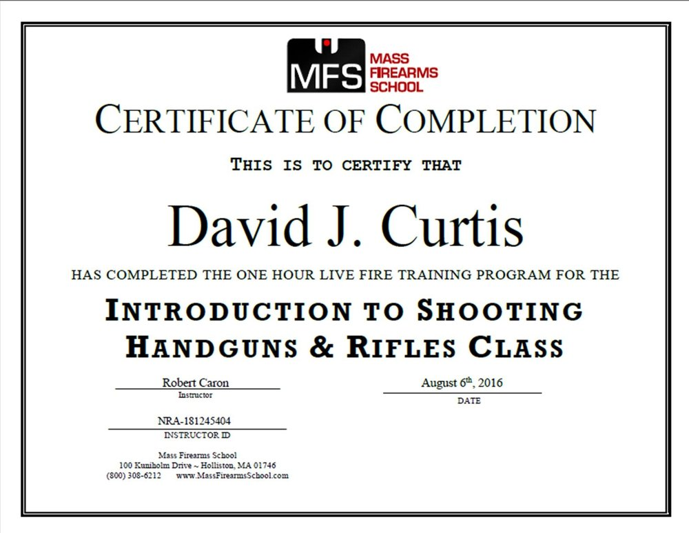 Handgus and Rifle Certified!