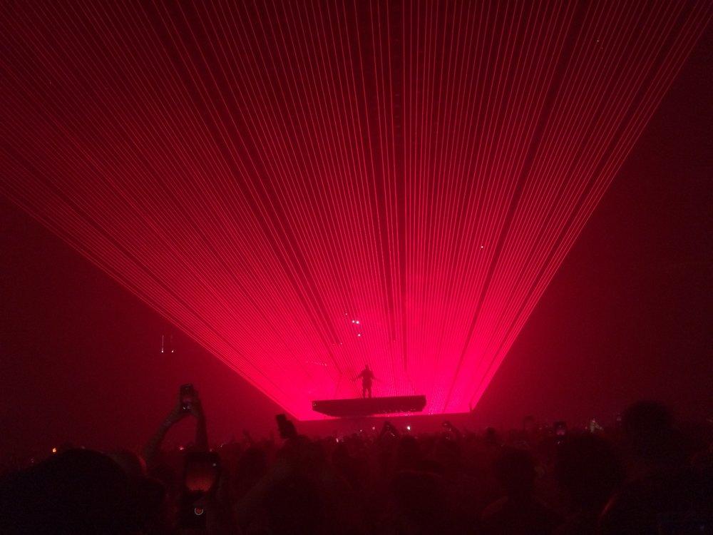 Kanye concert at the Key Arena!
