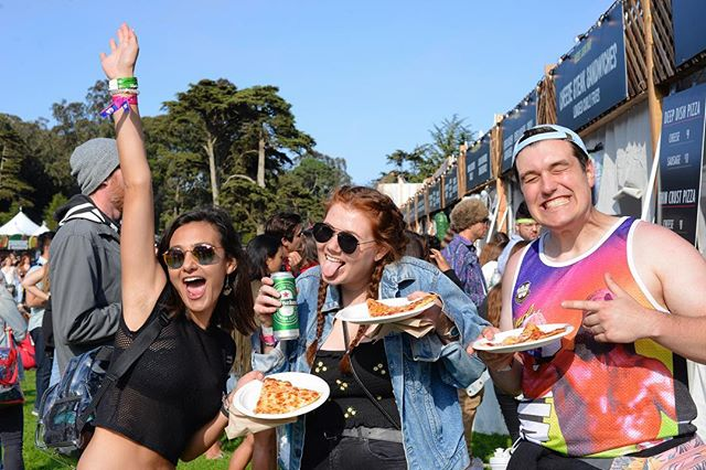 We're back for day 2! The only place to get deep dish and thin crust pizza all weekend long at @outsidelands—come see us! #outsidelands #littlestarpizza