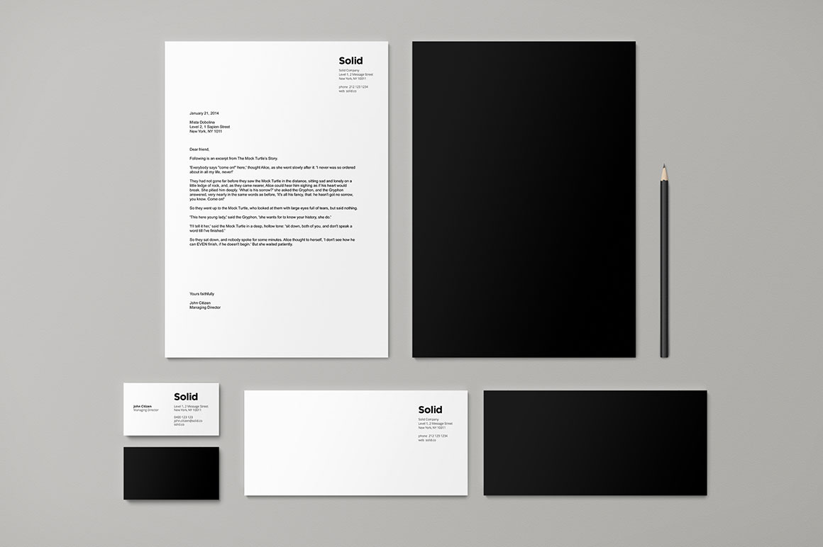 stationery template identity solid design assets