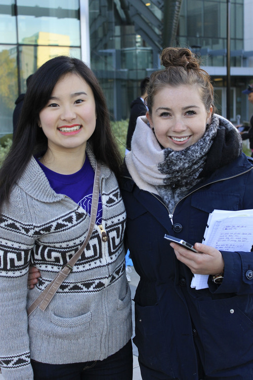 Amy Li (left) and Leah Shipton (right) co-coordinating OTS 2015