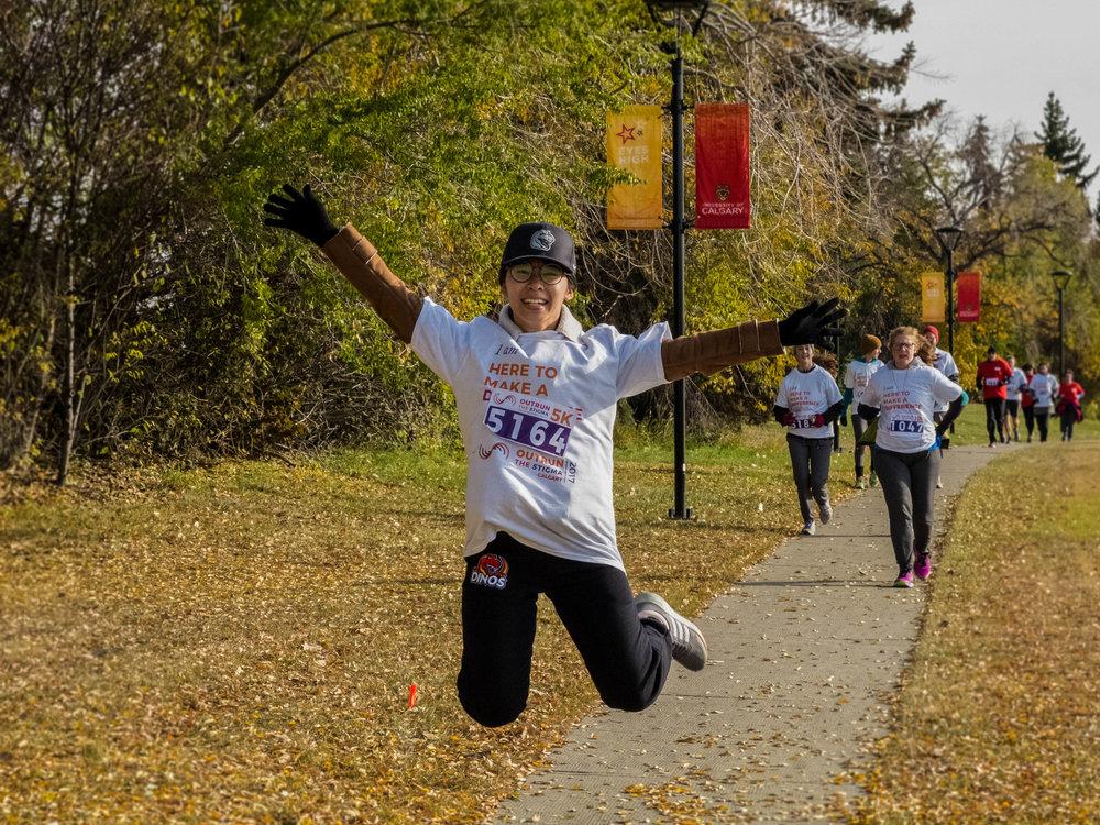 Outrun the Stigma Calgary 2017 Participant. Photo by Emma Brown.
