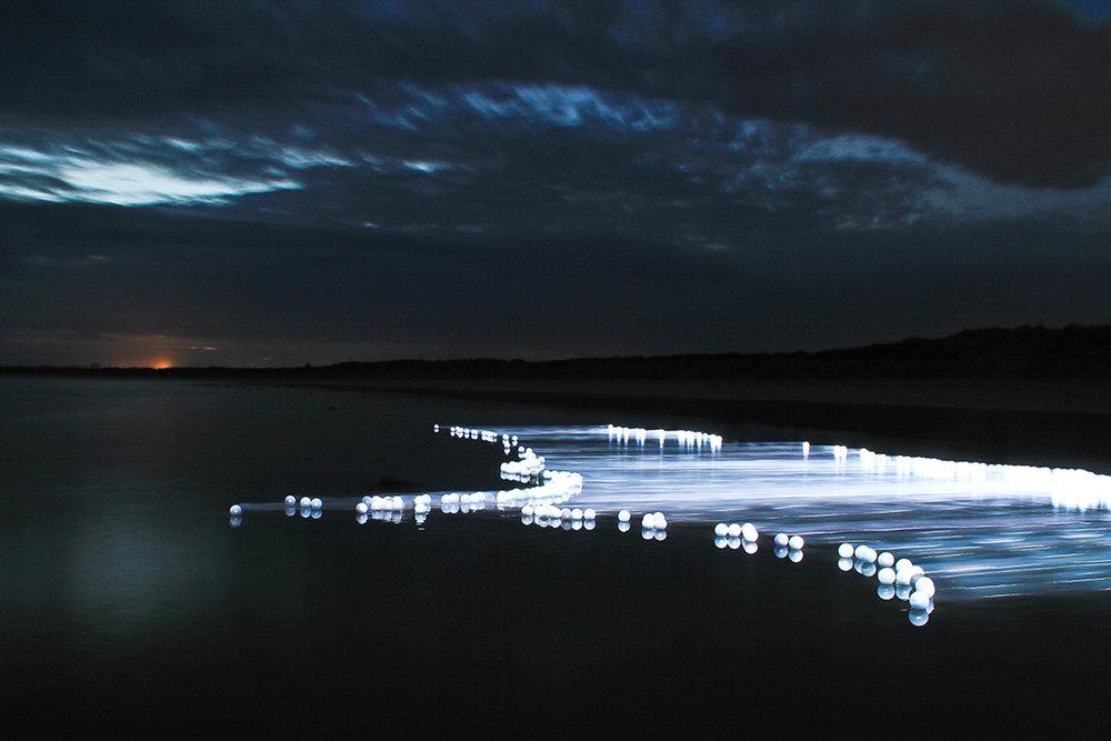 Ocean Grove  part of  Flow Series  LED lights, water