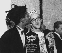 Basquait with Haring c. 1980