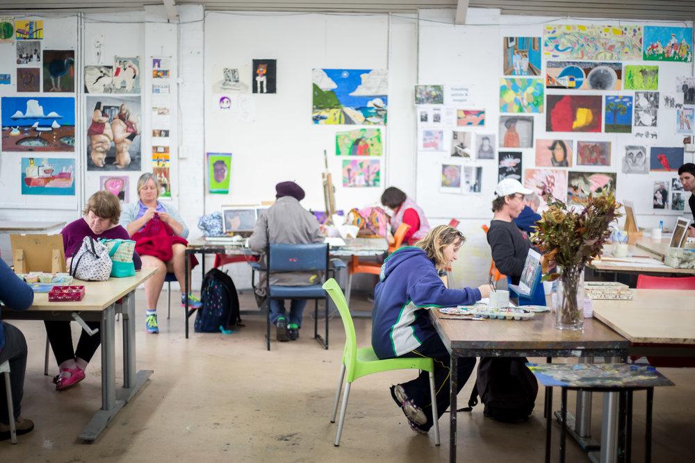 Arts Project Australia studio. Photo by Kate Longley. Courtesy of Arts Project Australia.