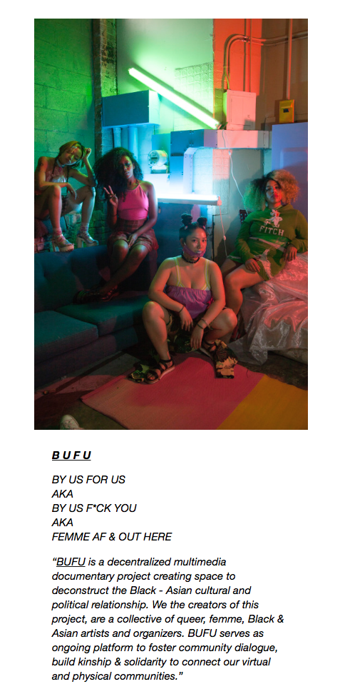 """BUFU: BY US FOR US AKA BY US F*CK YOU AKA FEMME AF & OUT HERE"" by SHADEZINE"