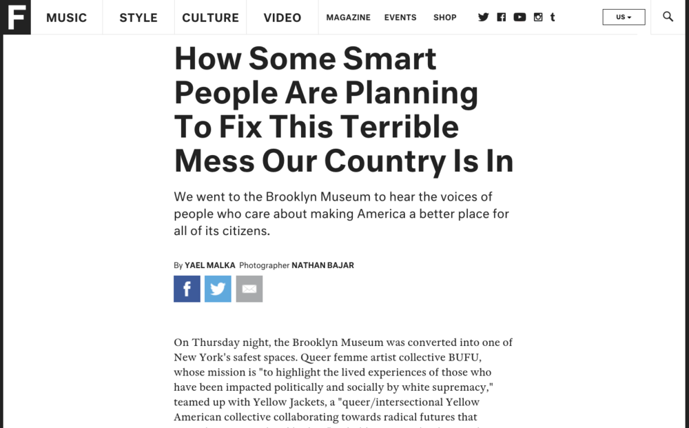 """How Some Smart People Are Planning To Fix This Terrible Mess Our Country Is In"" by Fader"