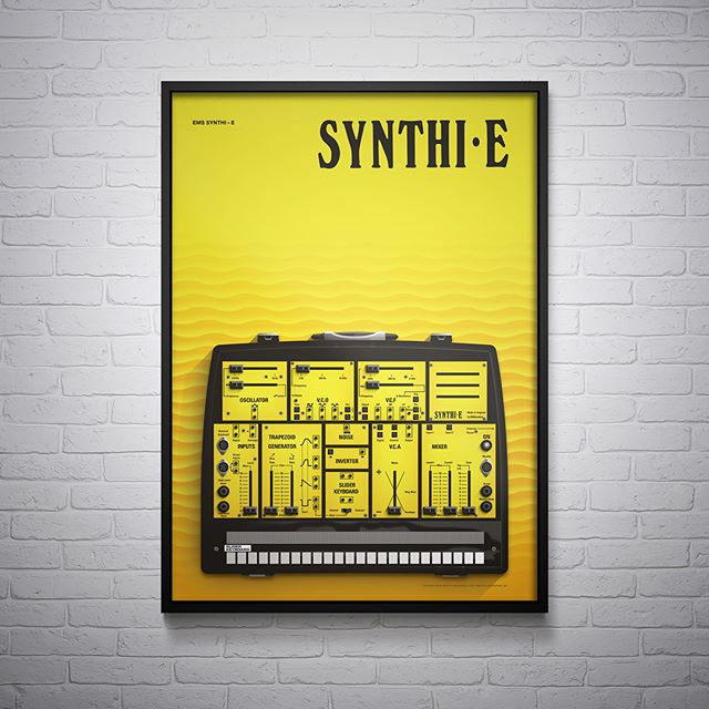Limited edition Synthi E posters now available. Series 1 prints features three seminal EMS synthesisers. Buy individually or as a set of three. Follow the Link in Bio for more information. . . . . #synthi_aks #synthi_e #ems #synthi #music #musicproduction #electronicmusicstudio #limitededition #print #printforsale #poster #illustration #art #vintage #vintagesynth #analouge #voltagecontrol #synth #synthesizer #synthart #synthlovers #voltagecontrolart #betterhalfworkshop
