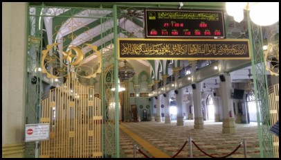 This is the hall where the muslim men pray. Visitors are not allowed on the second floor where the muslim women pray.