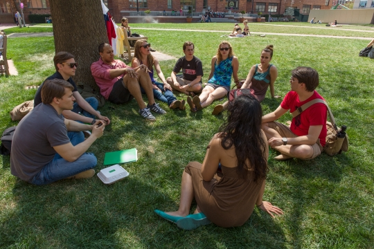 University Chapter groups often meet up in public spaces to discuss current events and social awareness in the student body.
