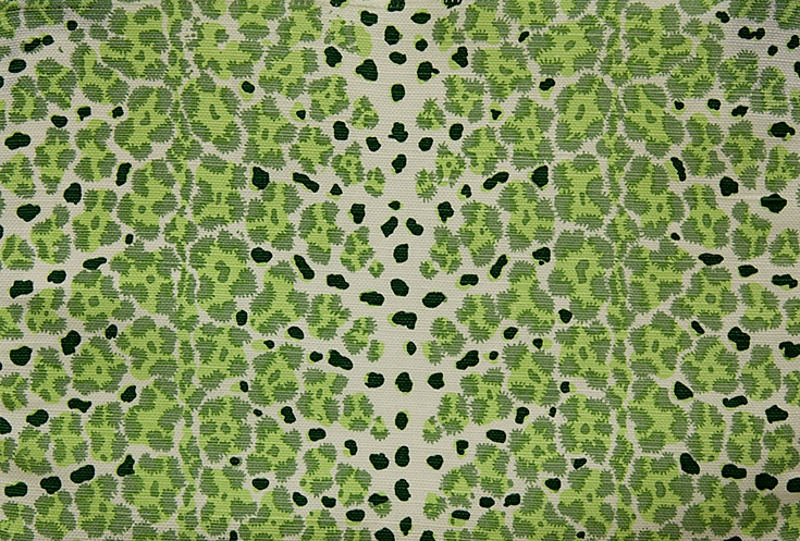 WF-445-04 Green on Linen/ Cotton