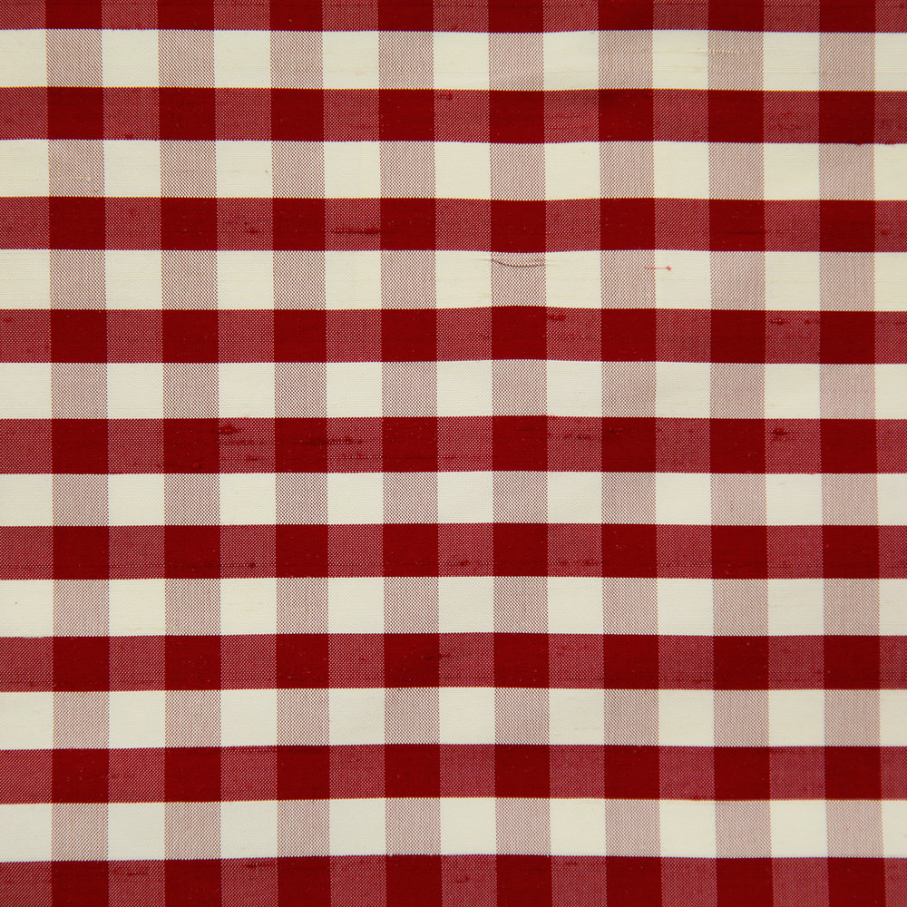 WF-450-02 Maroon/ Cream Silk Check