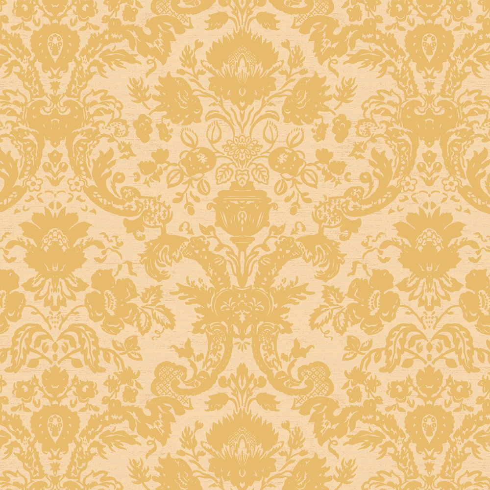 Yukon Damask yellow / Gold on Pearlized / Mica ground