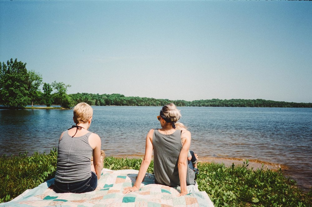 A film photo of Lauren & I at Percy Priest Lake earlier this summer
