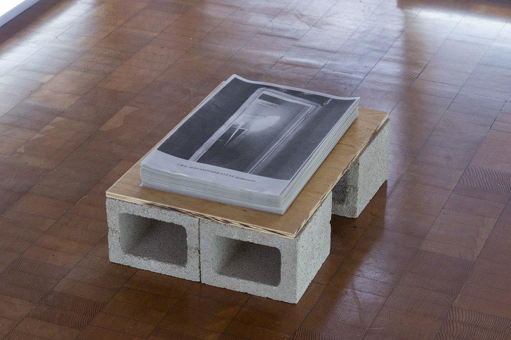 The Event Horizon Model (reconfigured),  risograph, wood & concrete, edition 300, 2016.