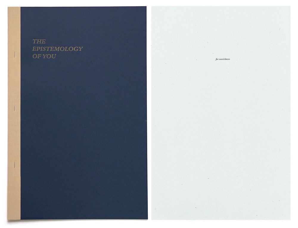 The Epistemology of You,  laser-print and risograph book, edition 30, 2016.