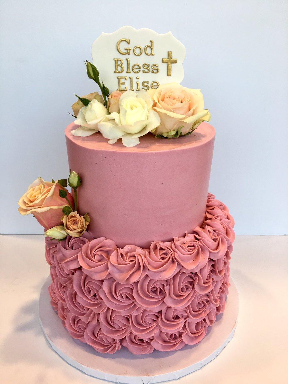 pink rosette christening.jpg