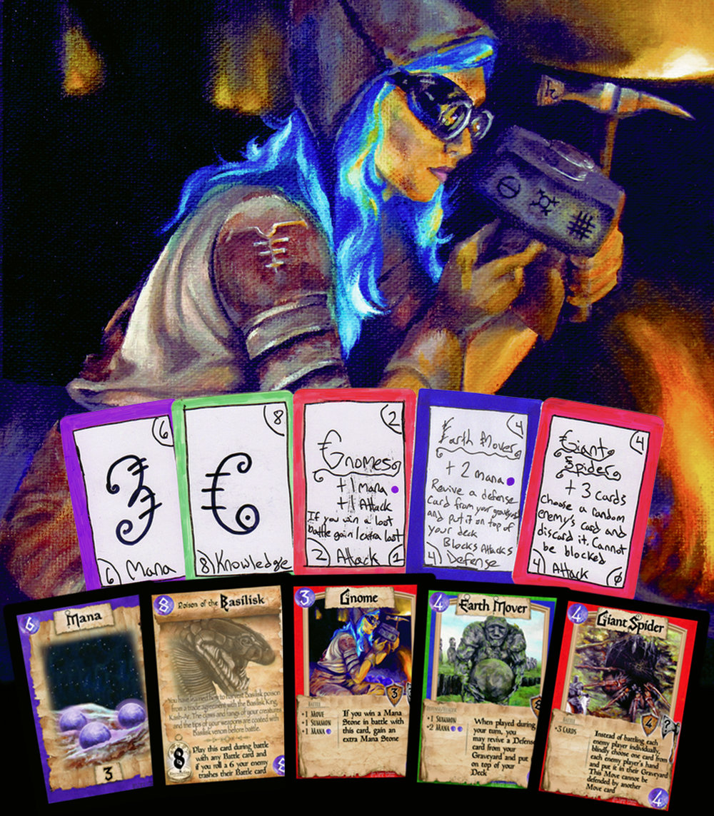 Knowledge 2nd prototype cards and their current form