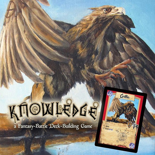 """""""General Tornfeather"""" a Griffin from the Northern Flock. If you study under their tribes they may grant you feathers to make some of the strongest armor known in the world of Knowledge. #knowledgethegame #boardgames #cardgames #tabletopgames #gamenight #griffin #indiegame #indieartist"""