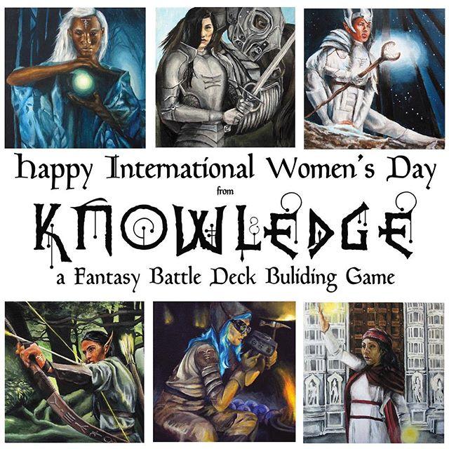 Happy International Women's Day! #internationalwomensday #knowledgethegame #fantasyart #womenartists @laurawhittier_art