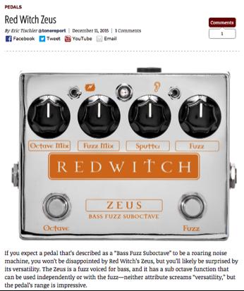 Tone Report Weekly - Zeus