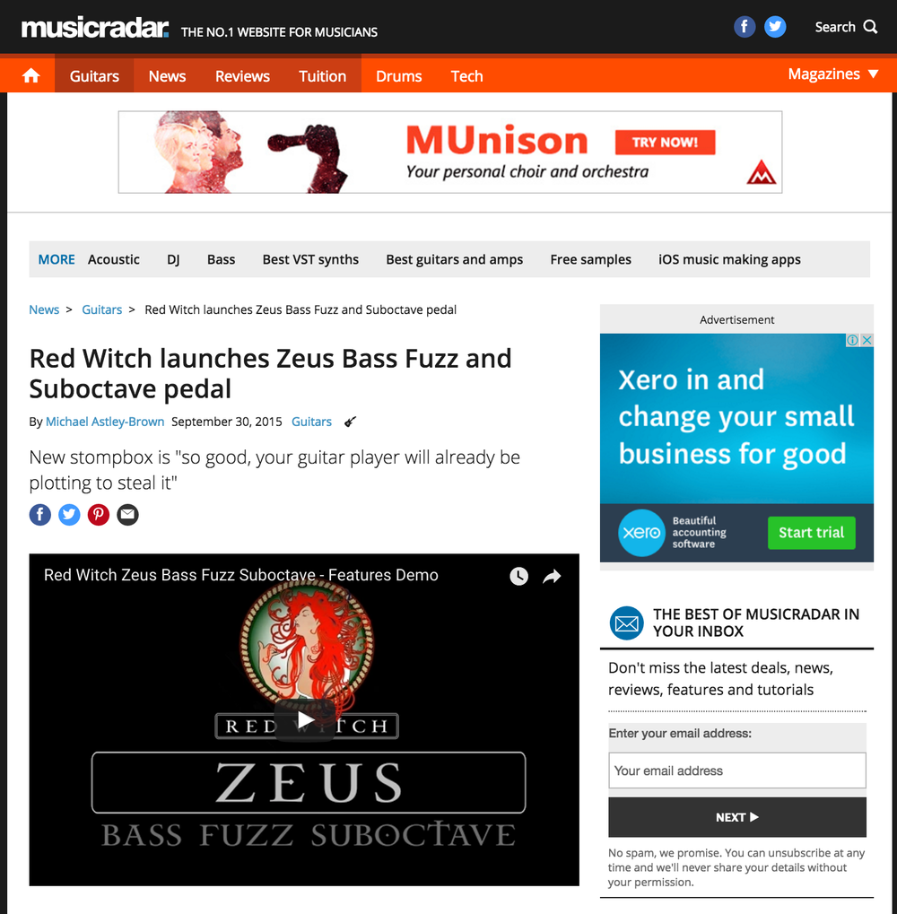 Music Radar - Zeus