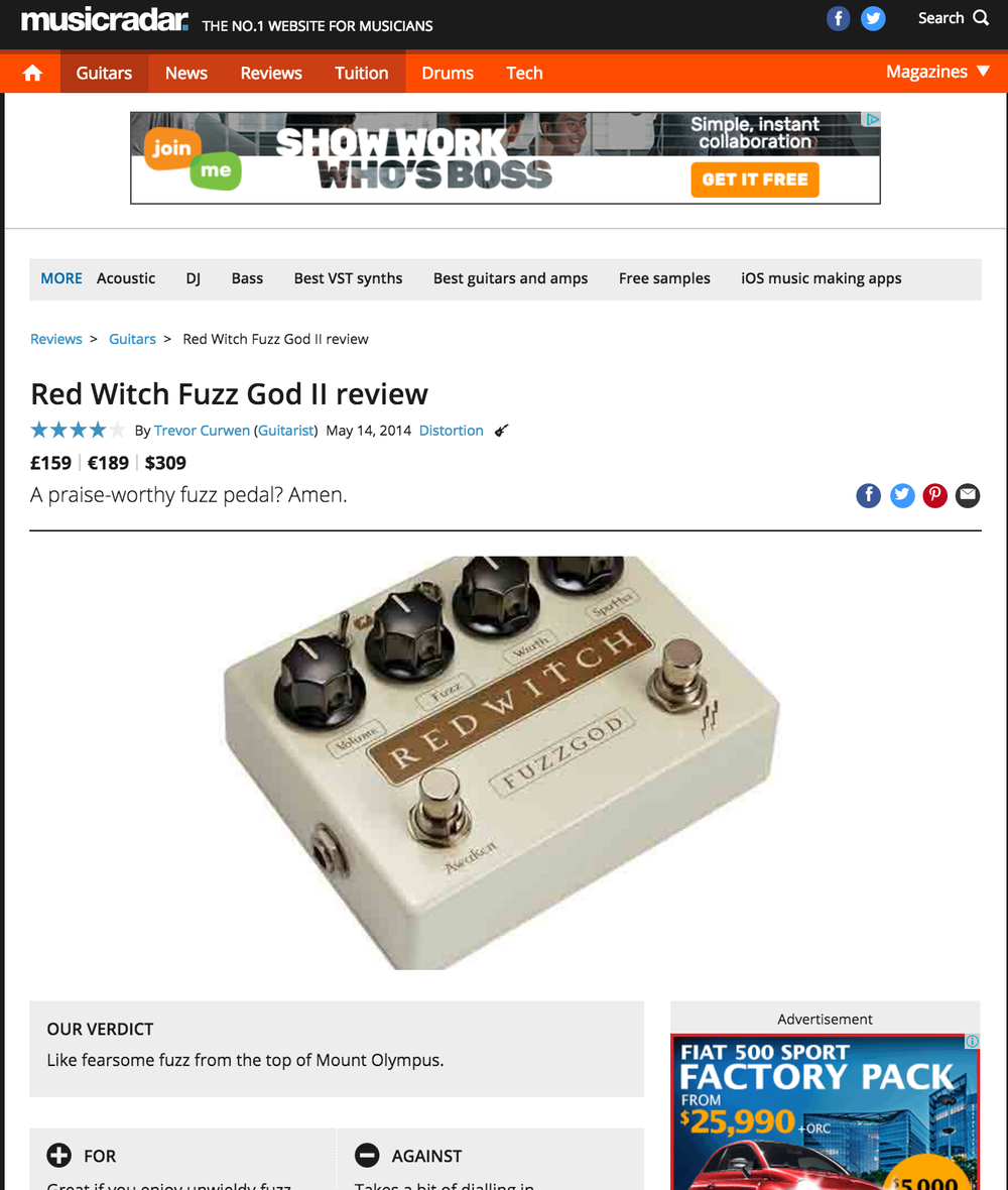 Music Radar- Fuzz God II