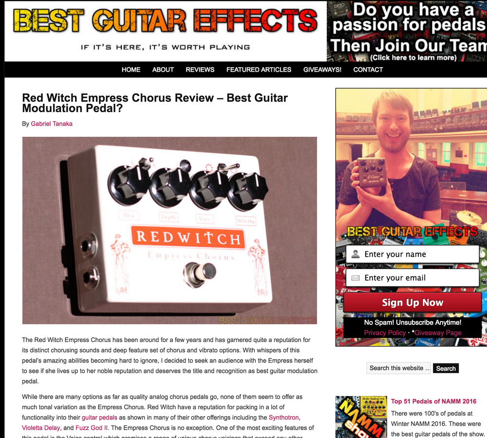 Best Guitar Effects - Empress Chorus