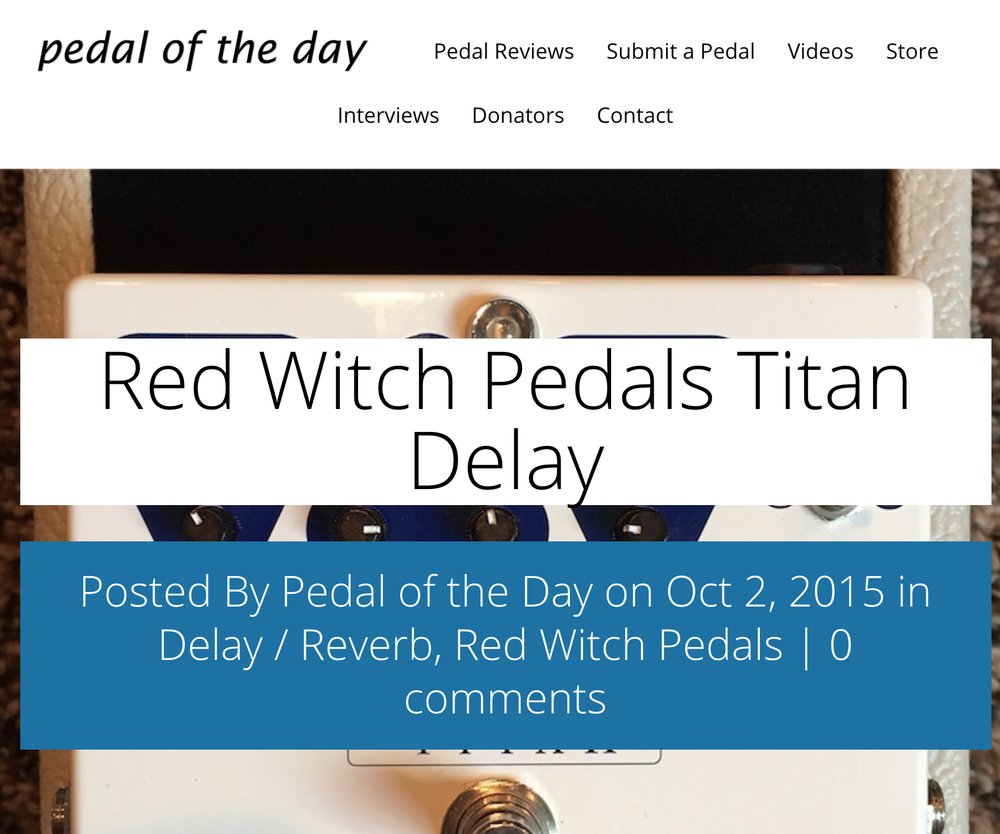 Pedal of the Day - Titan