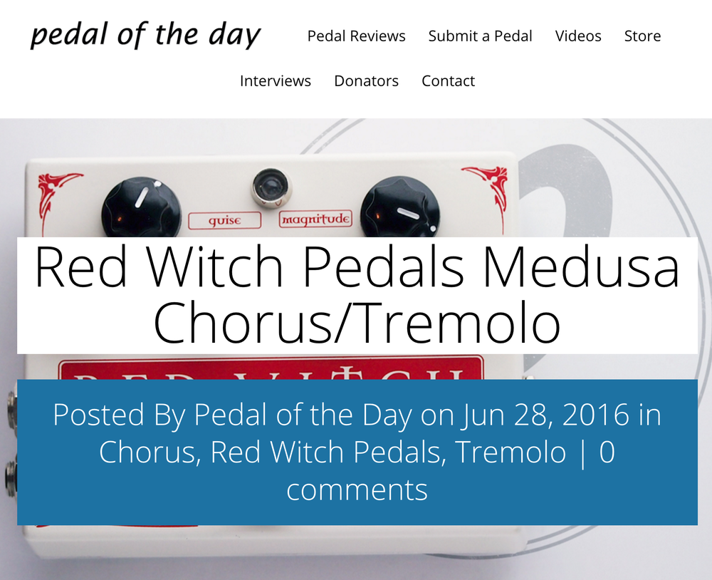 Pedal of the Day - Medusa