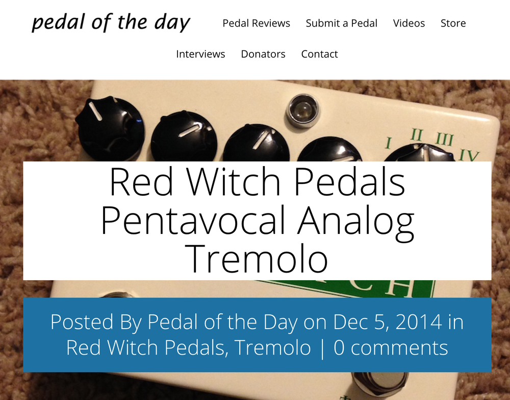 Pedal of the Day - Pentavocal Tremolo