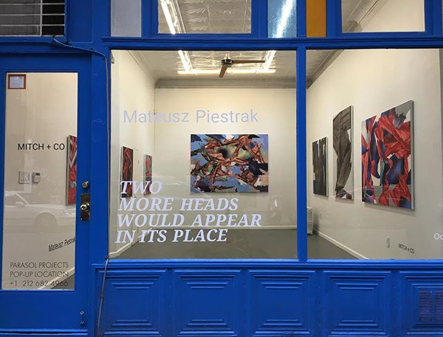«Two More Heads Would Appear In Its Place» Opening reception tonight from 5-10pm, 171 Elisabeth st. @piestrax #mateuszpiestrak #mitchplusco #contemporaryart #fineart #artgallery #artcollector