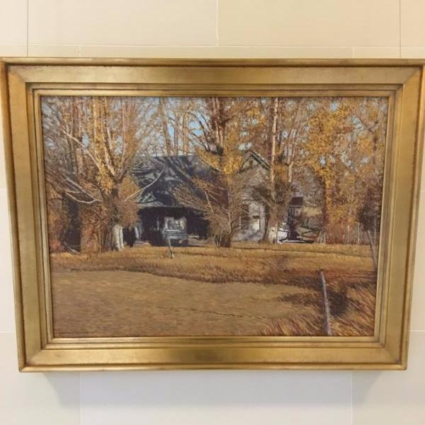 Abandoned  was painted by renowned rural landscape artist LeConte Stewart around 1950. In 2002, November 7 was declared LeConte Stewart Day by Governor Leavitt.
