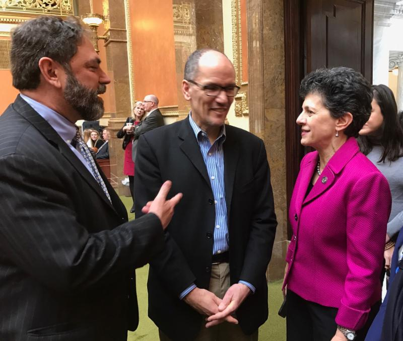 Rep. King and former Secretary of Labor and newly elected DNC Chair Tom Perez