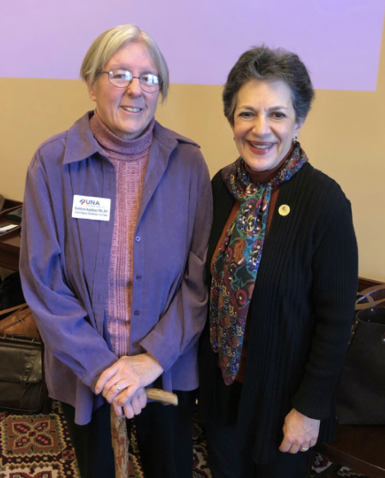 Kathleen Kaufman with Utah Nurses Association and Rep. Arent